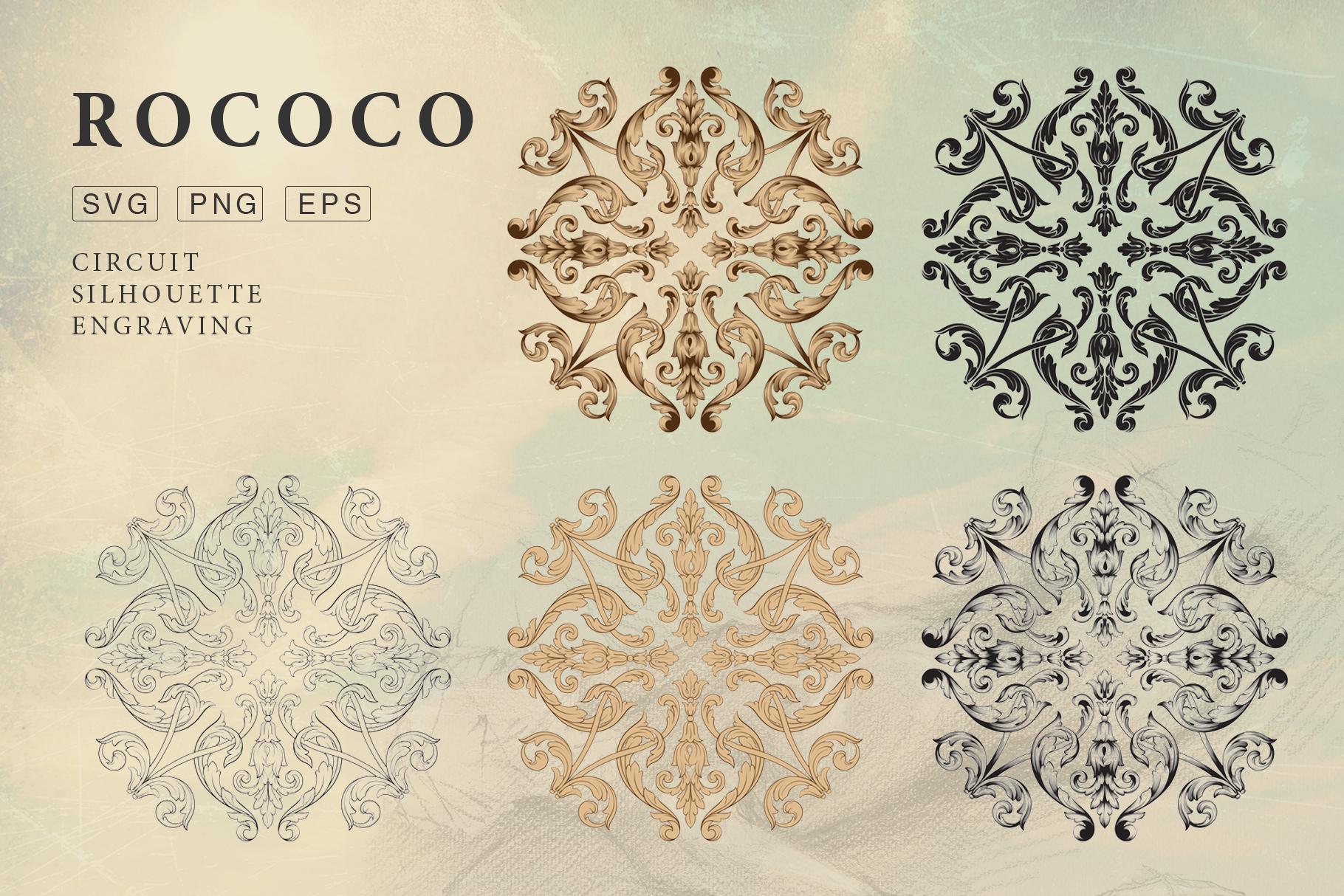Rococo Romance Ornament page decor example image 7