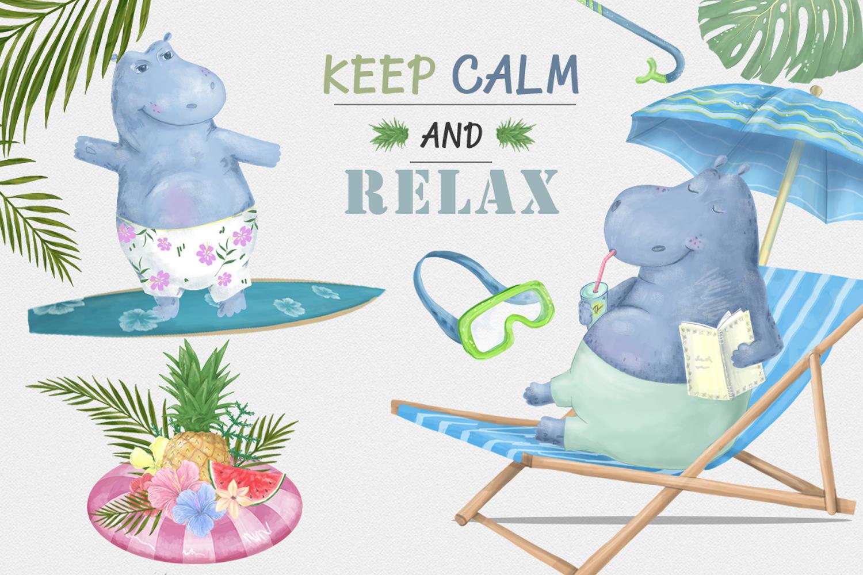 Hippo Beach Travel. Summer Set example image 7