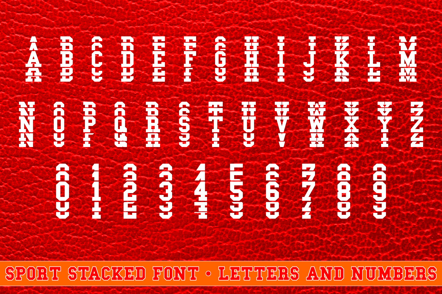 Sport Stacked Font Filled and Outlined Cut File SVG example image 2