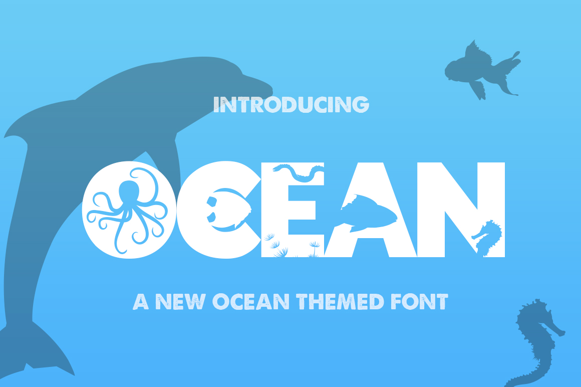 The Ocean Font example image 1
