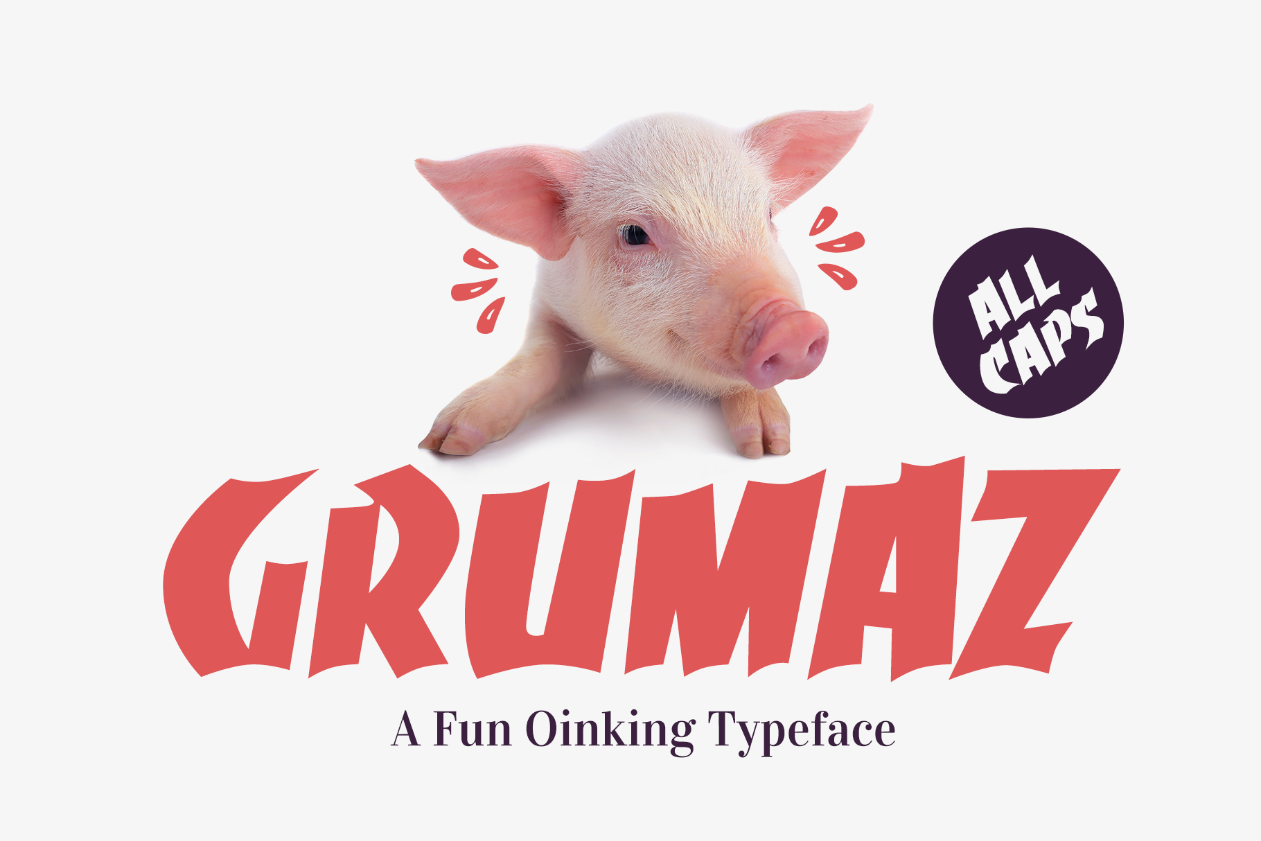 Grumaz - A Free Oinking Display Font / Fun Font / Free Font example image 1