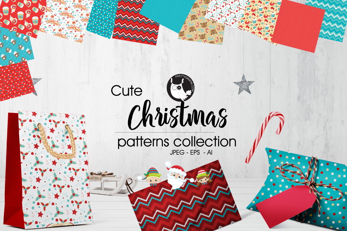 CHRISTMAS , digital papers example image 1