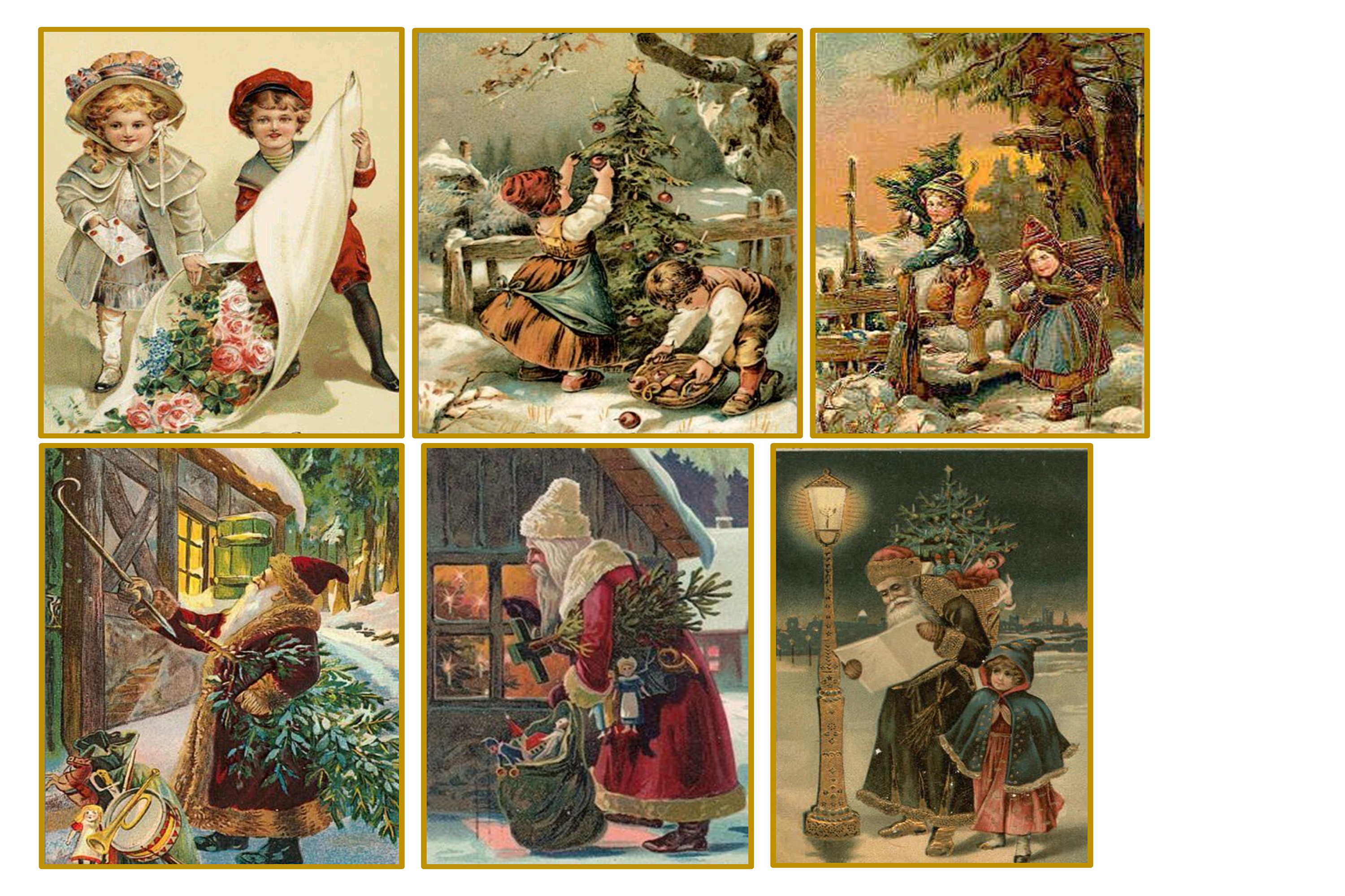 Country Christmas Backgrounds with FREE Ephemera and Clipart example image 4