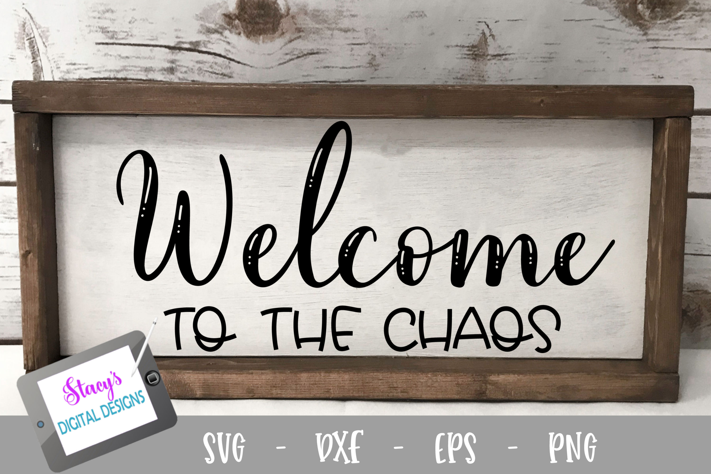 Welcome to the chaos SVG - Welcome sign SVG example image 1