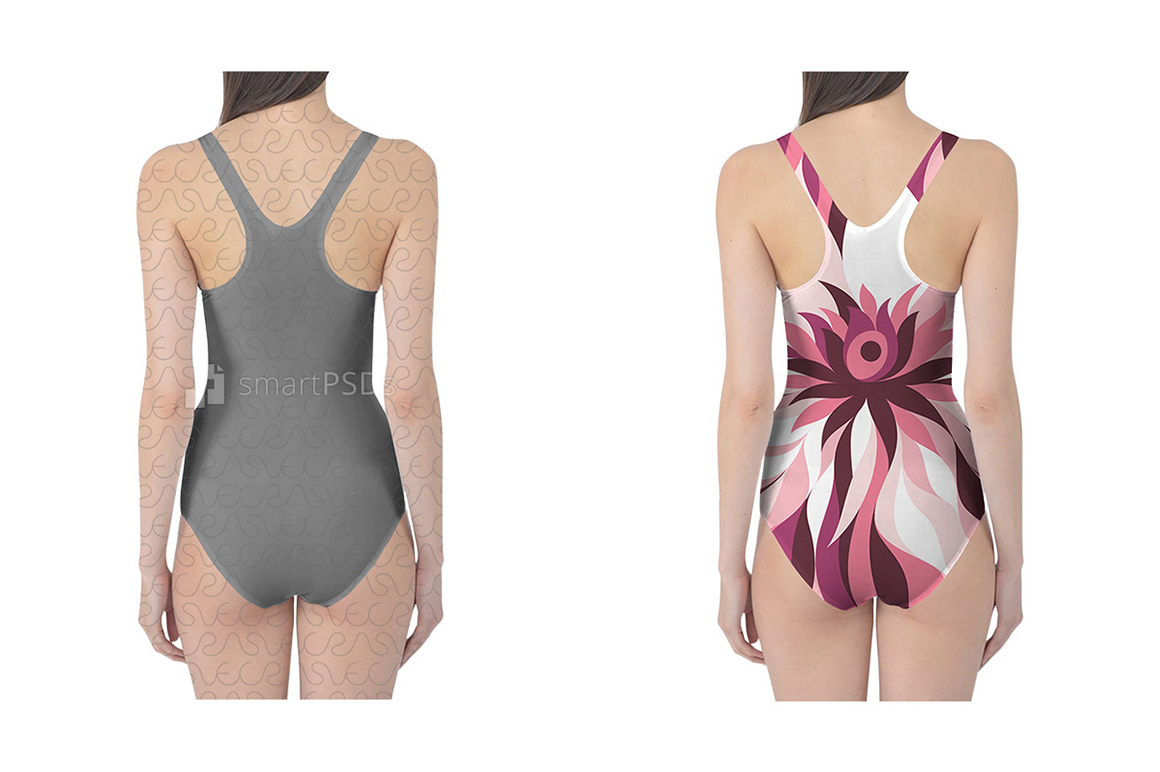 Swimsuit Dress Design Mockup of Sublimation Cloth Preview - 2 Views example image 2