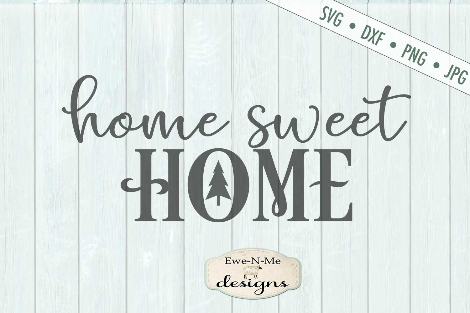 Home Sweet Home - Christmas Tree - SVG DXF File example image 2
