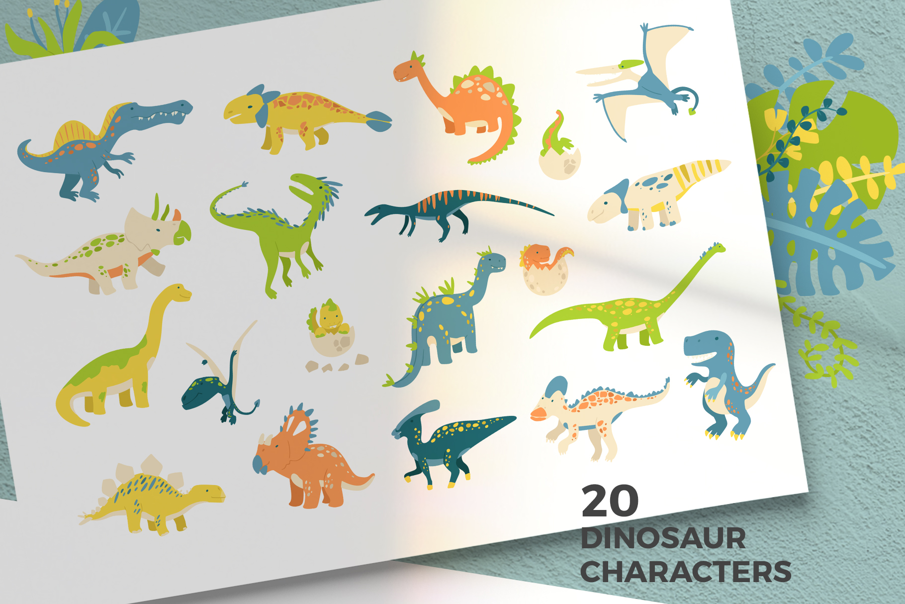 Cute Dinosaurs example image 2