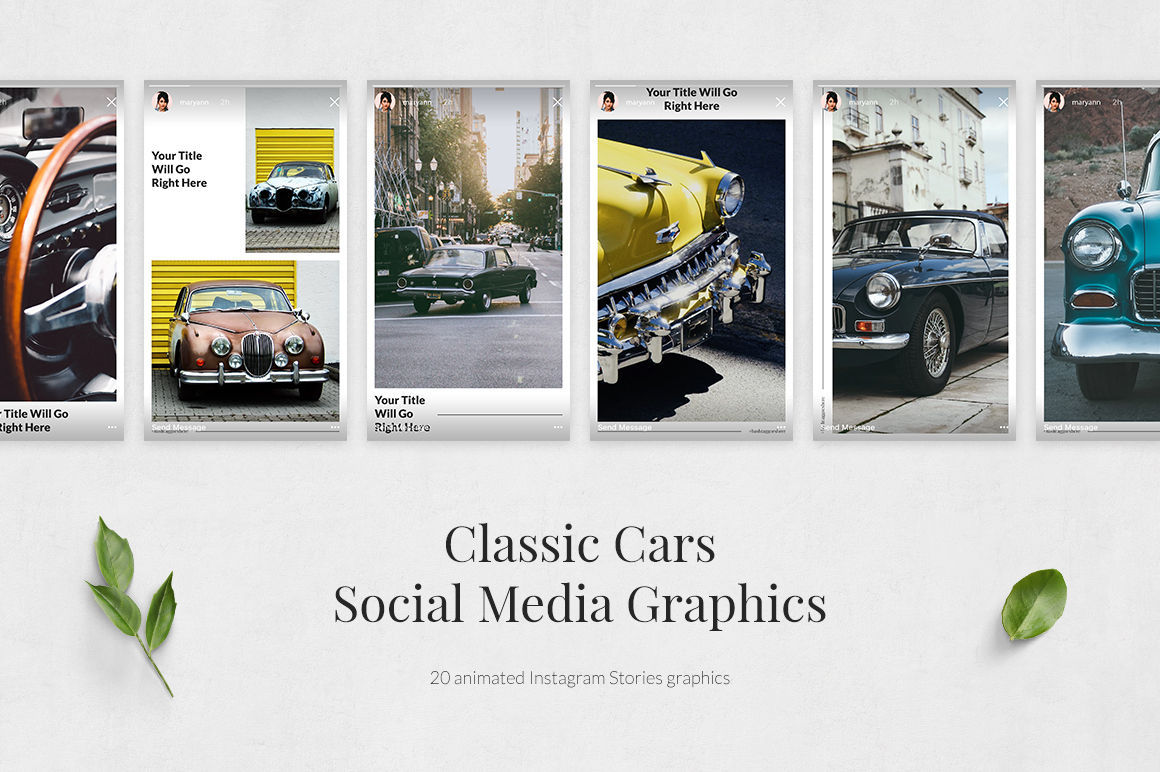 Classic Cars Animated Instagram Stories example image 2