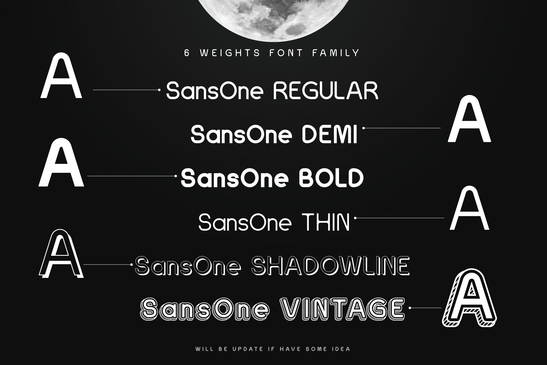 Sans One Font family example image 4