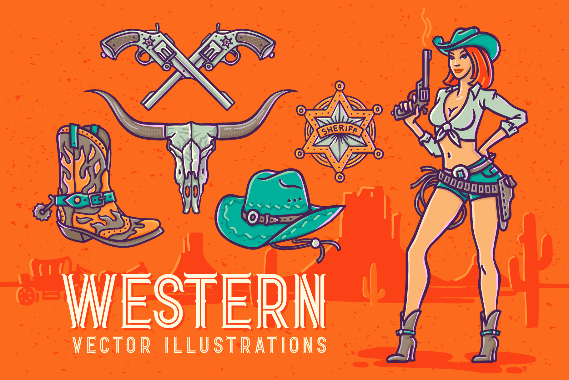 Western Shooter font with bonus example image 3