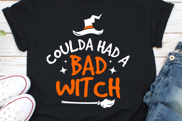 Coulda Had a Bad Witch Svg, Halloween Svg, Halloween Tshirt example image 1
