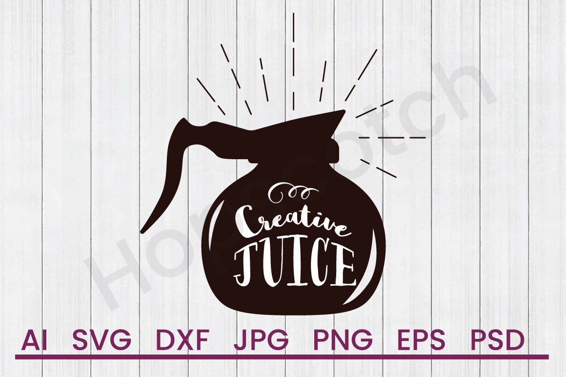 Coffee Pot SVG, Creative SVG, DXF File, Cuttatable File example image 1