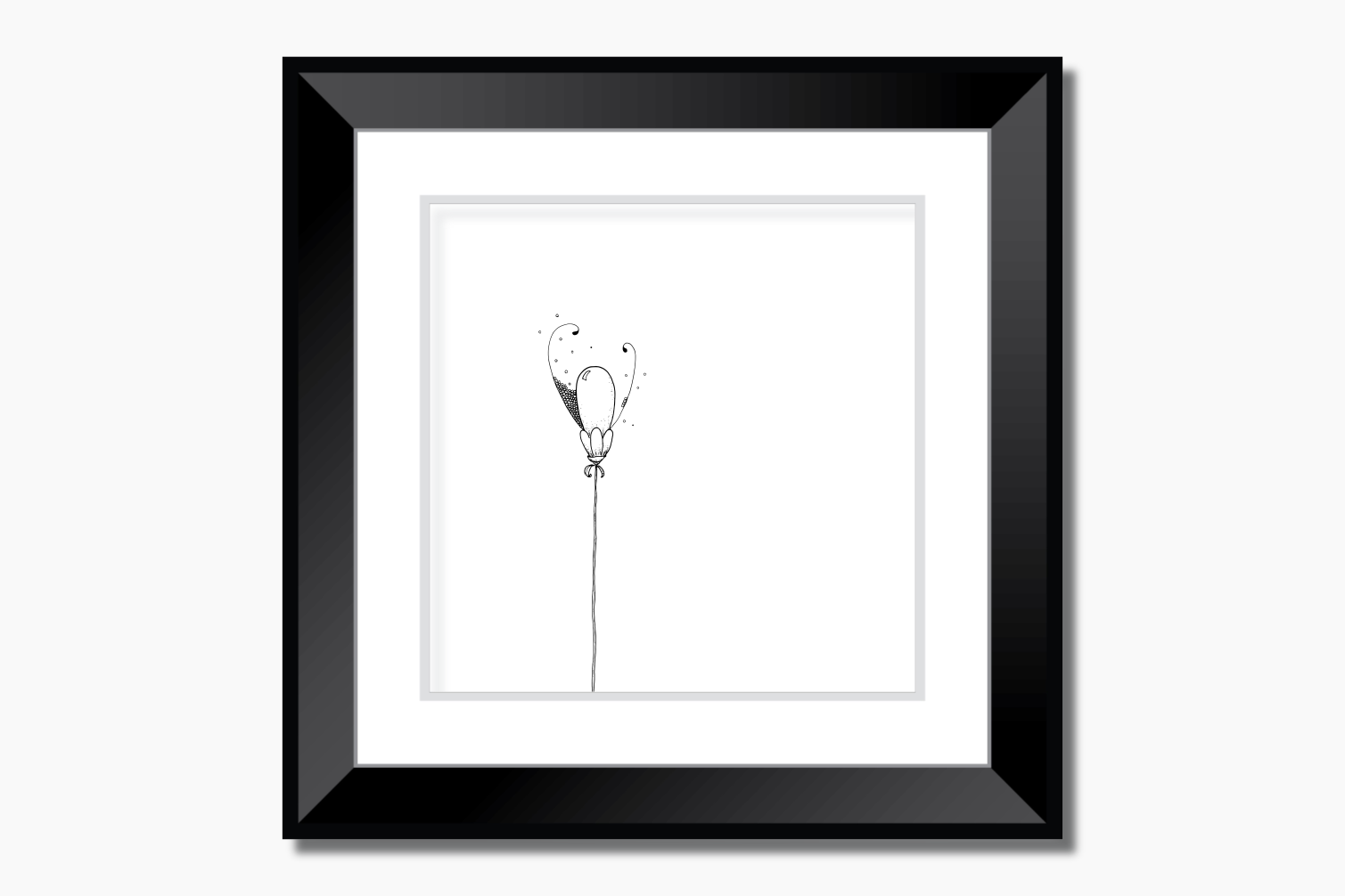 Balloon Flower Doodle Art, A1, SVG example image 6