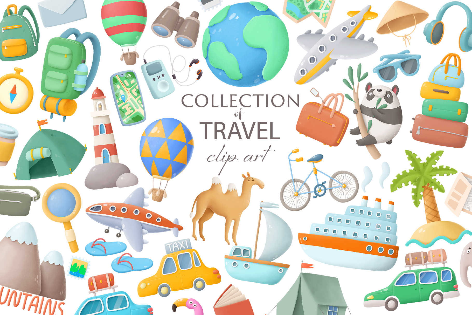 Travel clip art collection example image 1