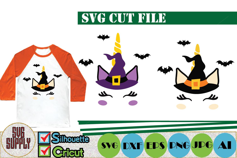 Halloween Unicorn SVG Cut File example image 1