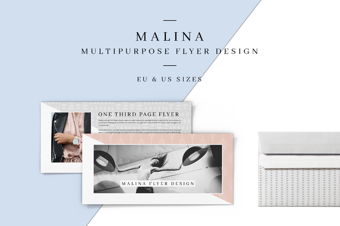 MALINA One Third Page Flyer + Pattern example image 1