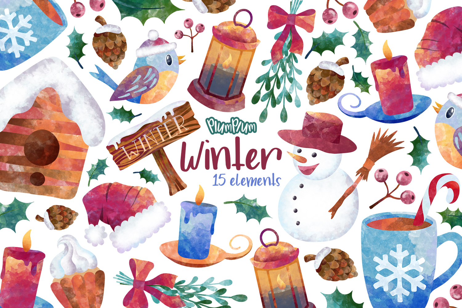 Winter Clipart Bundle example image 5
