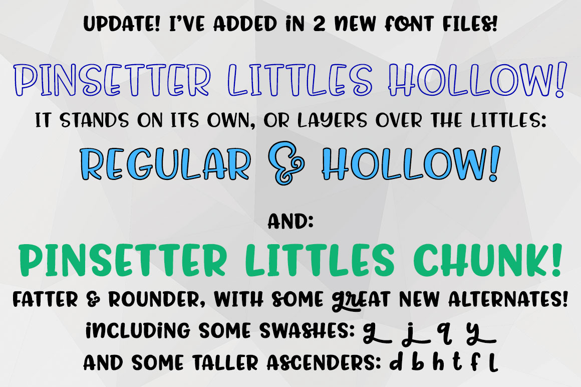 Pinsetter three fun fonts! example image 10
