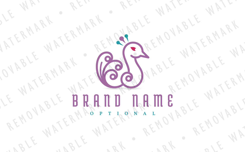 Peafowl Feathers Logo example image 2