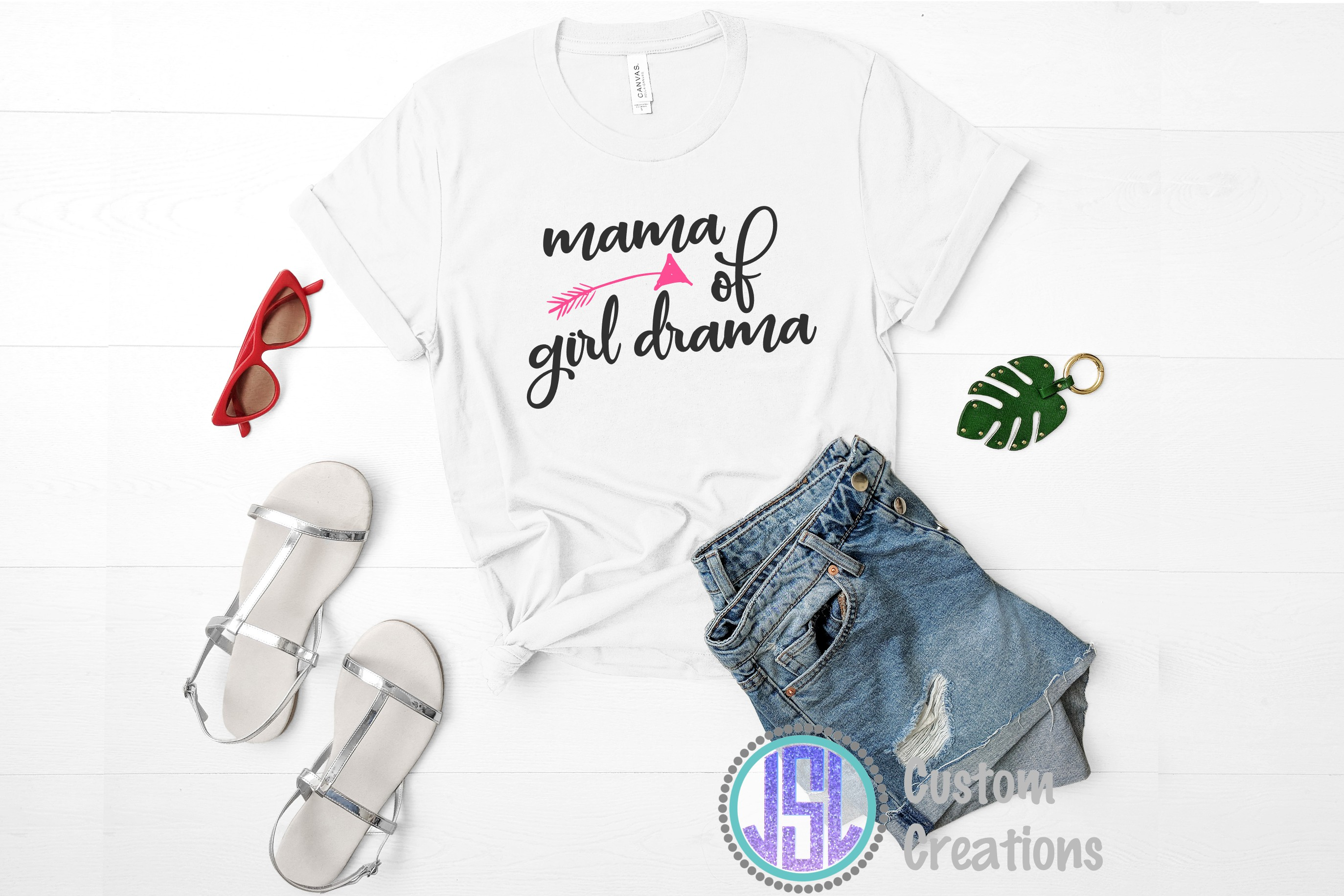 Mama of Girl Drama| SVG DXF EPS PNG Digital Cut File example image 2