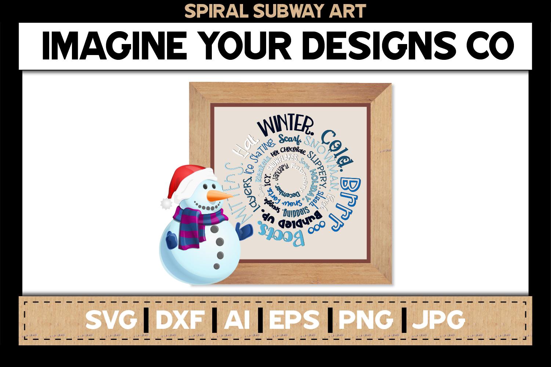 Spiral Subway Printable SVG Clipart Bundle example image 5