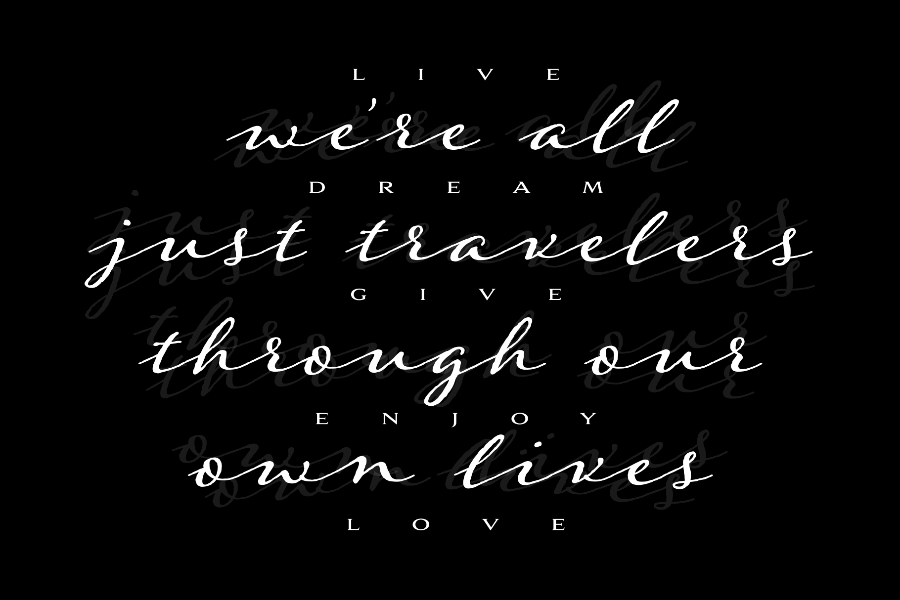 Were all just travelers quote design example image 4