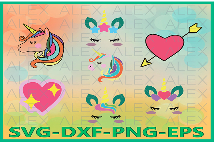 Unicorn SVG, Unicorn head Svg, Face Unicorn Files svg example image 1
