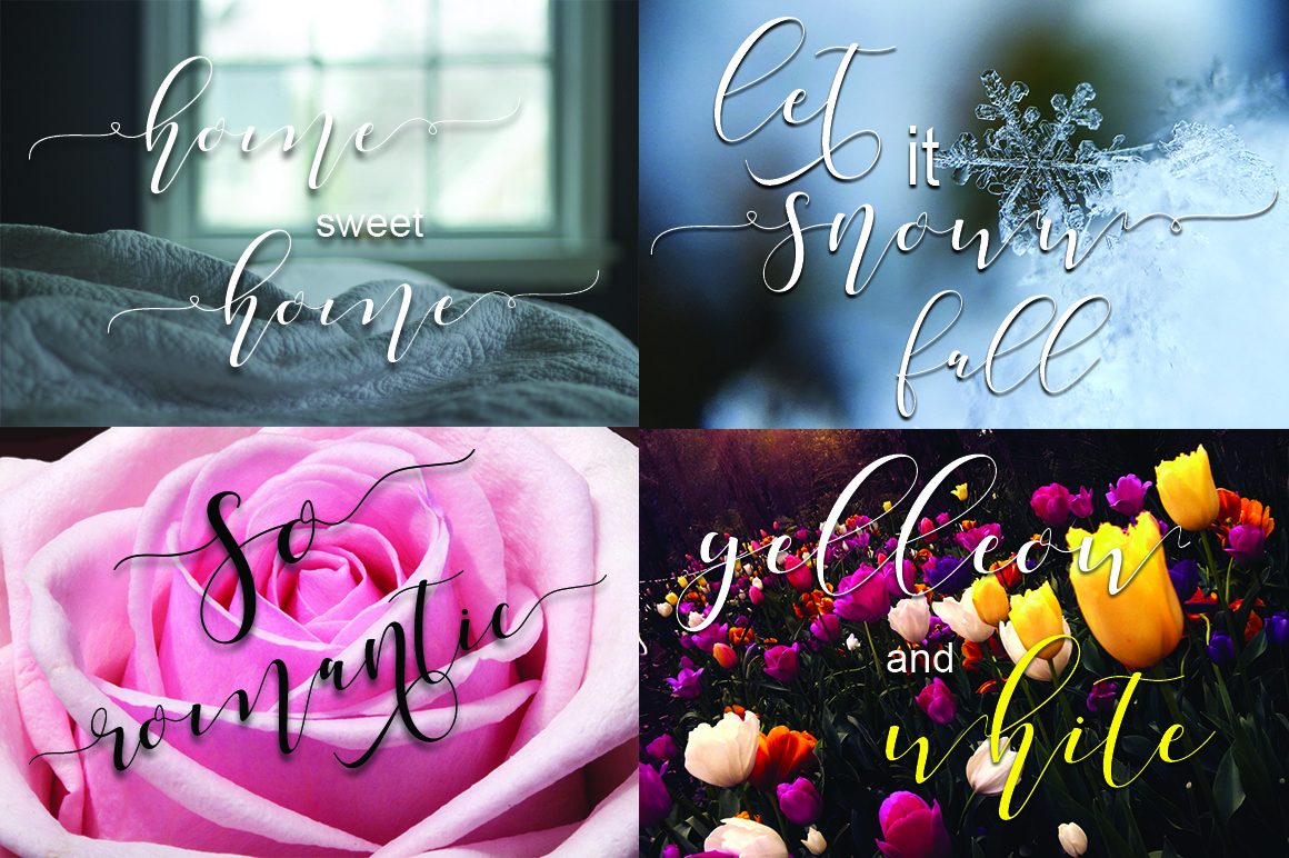 Shania Sweet Calligraphy Modern example image 2