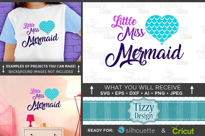 Little Miss Mermaid SVG - Mermaid Shirt SVG File - 1062 example image 1