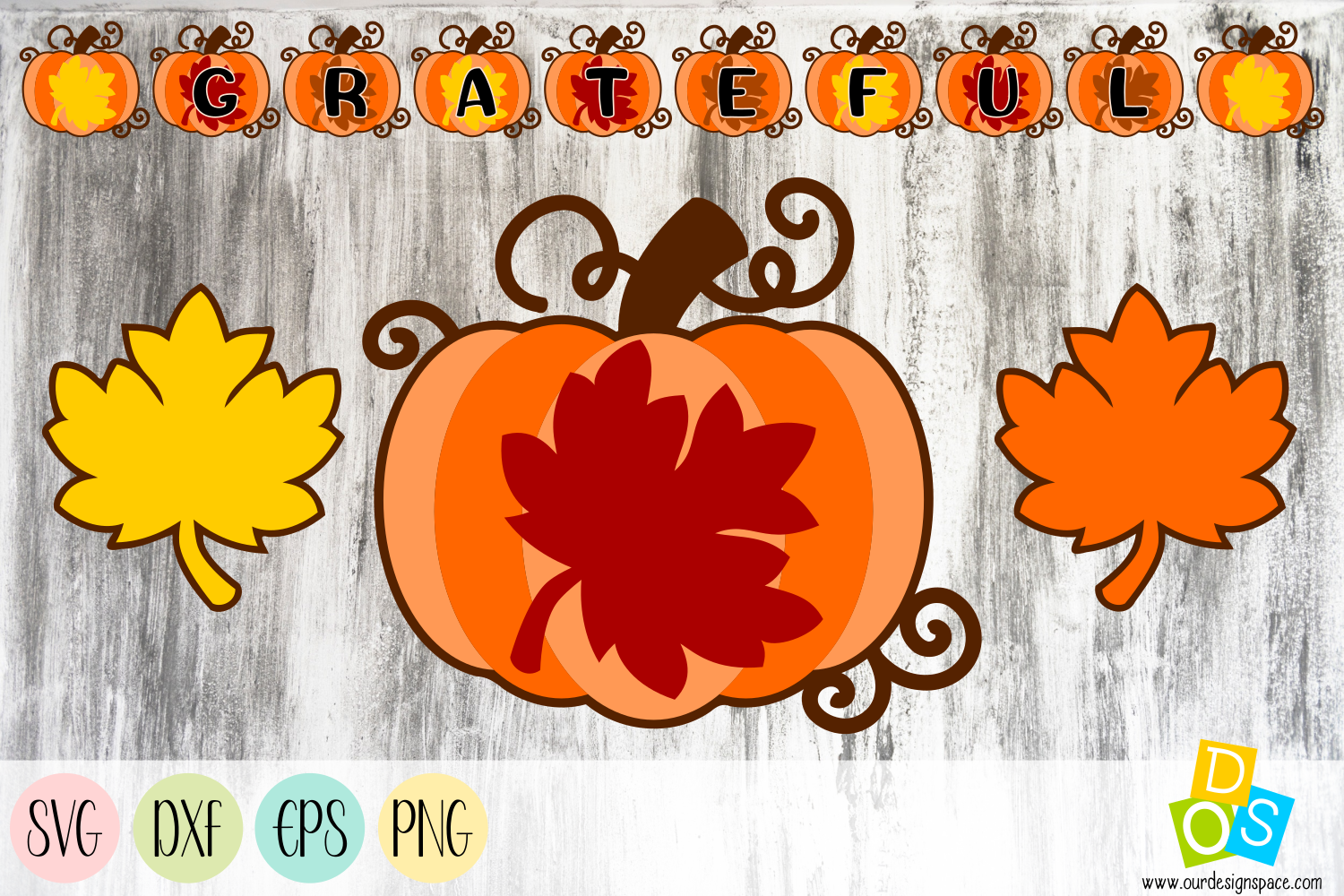 Grateful Banner SVG, EPS, DXF and PNG files example image 1