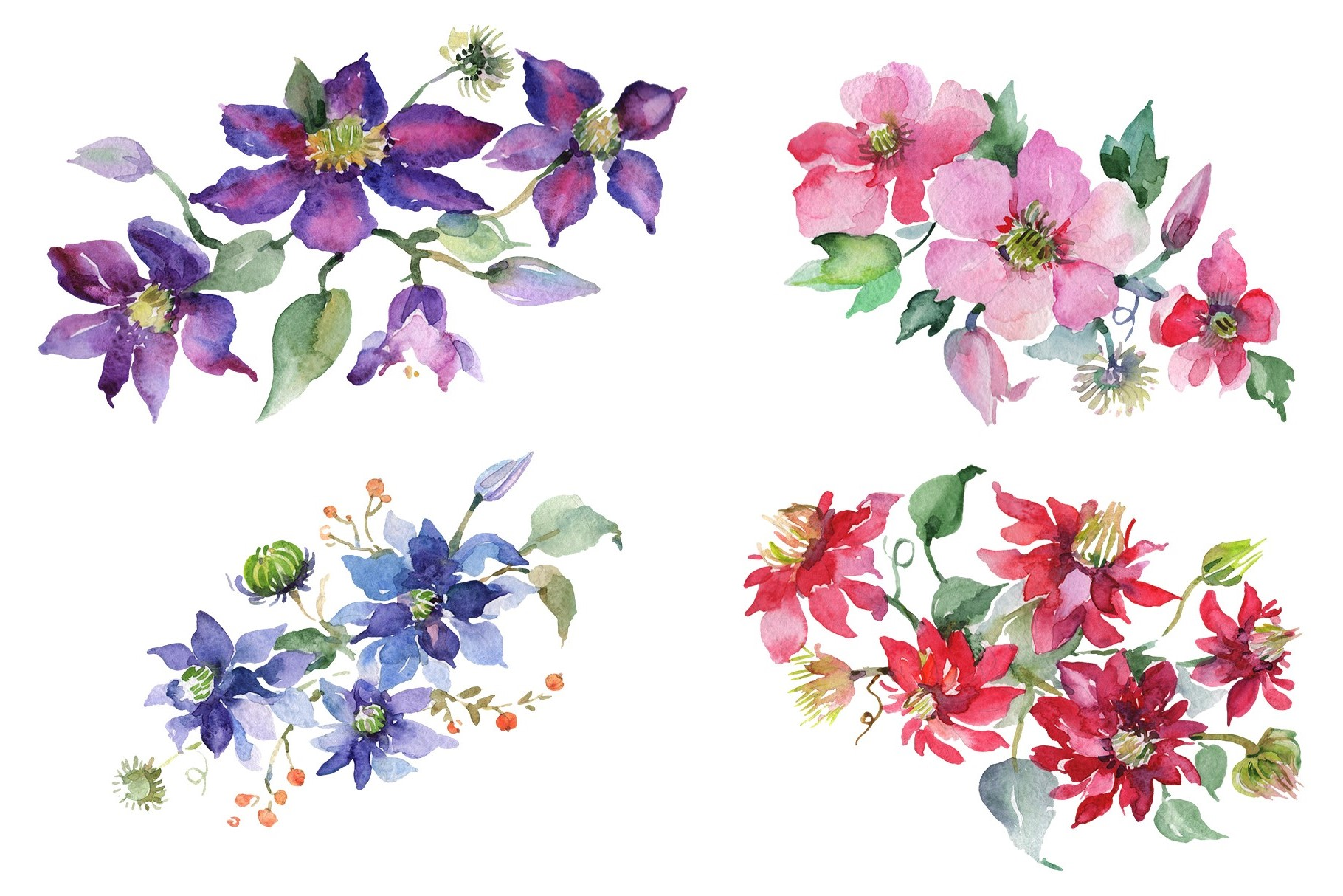 Bouquet Angelic flight Watercolor png example image 1