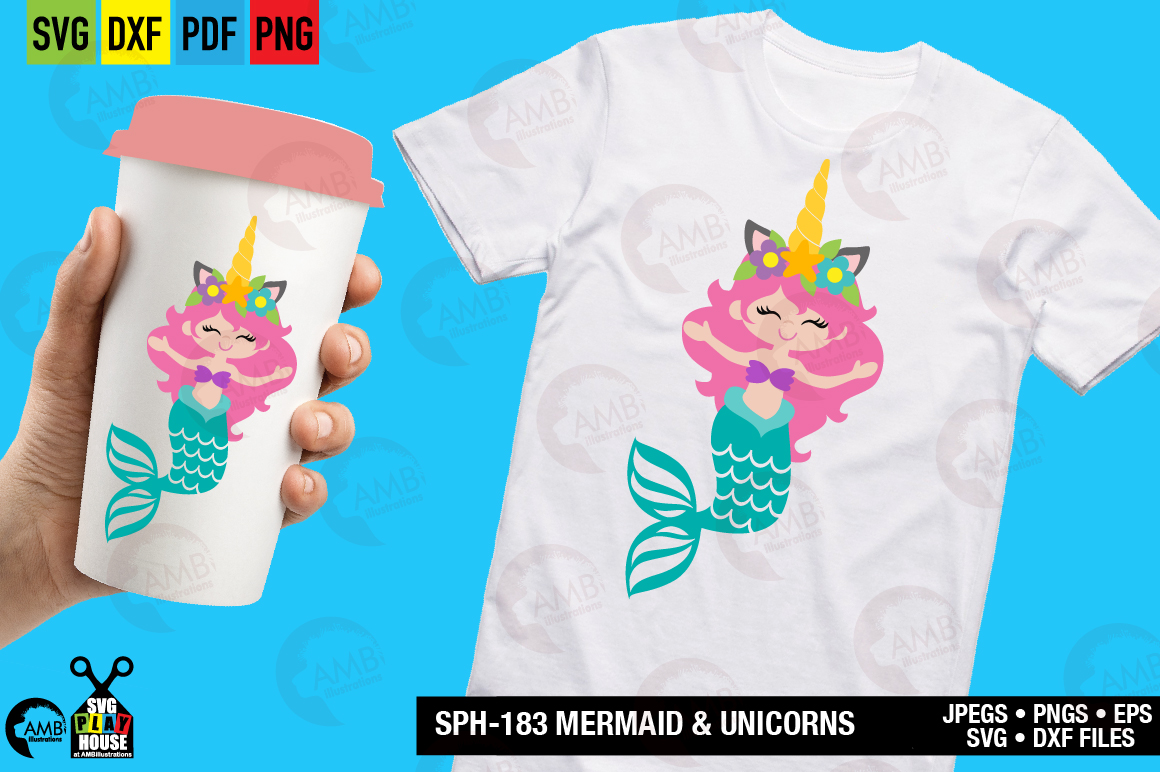 Mermaid and unicorns svg SPH-183 example image 5
