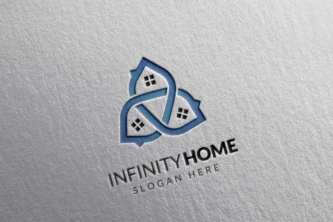 Real Estate Logo, Infinity Home Logo example image 7