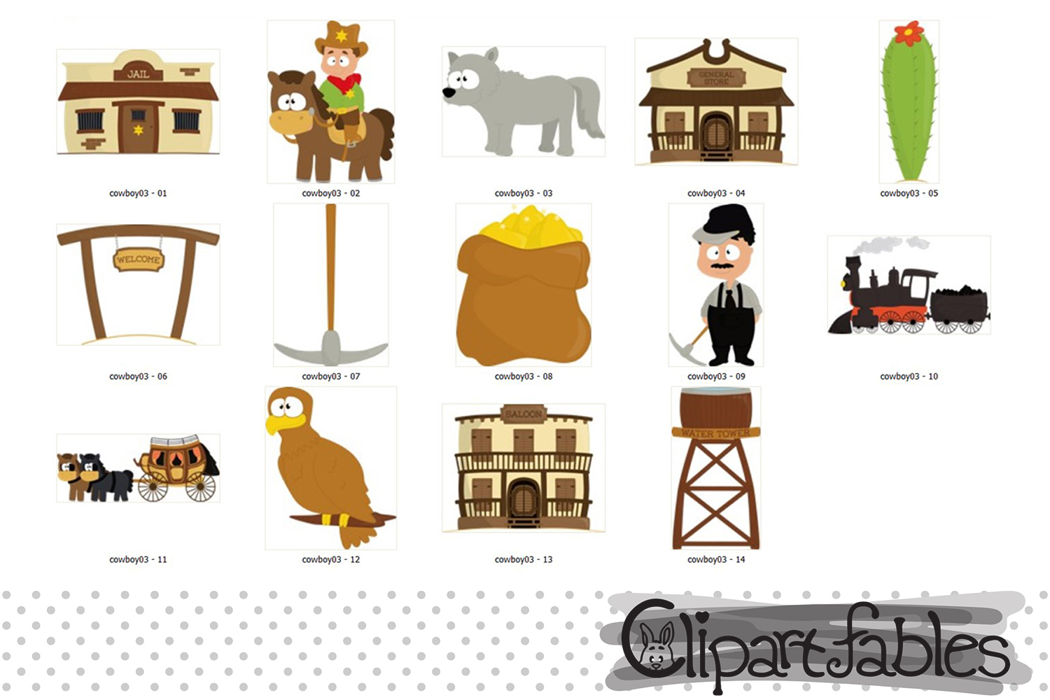 Wild west clipart, cute western city clip art example image 2