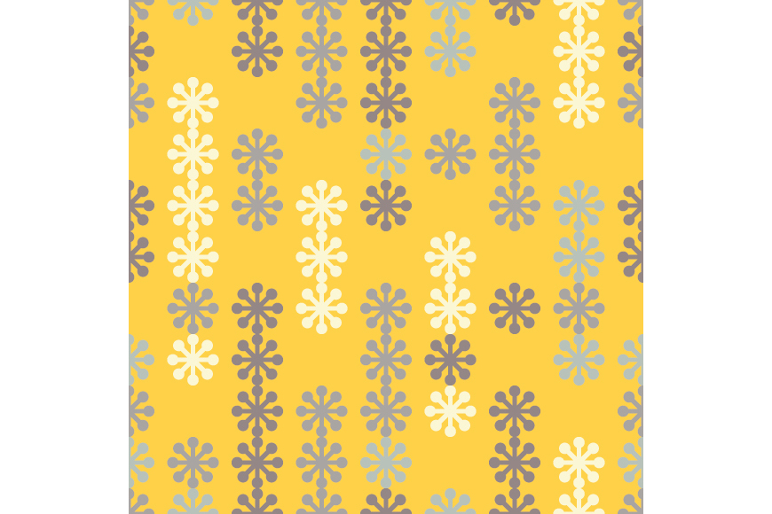 Set of 12 seamless backgrounds with decorative snowflakes.  example image 12