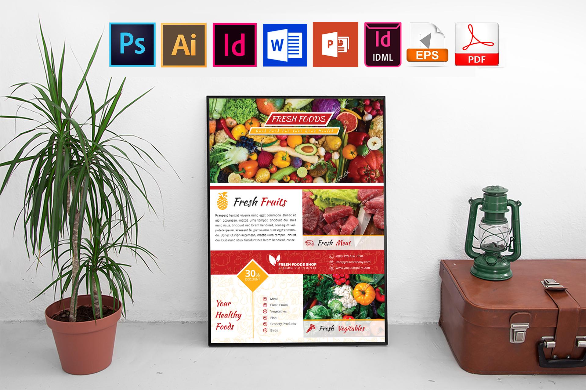Poster | Fresh Food Shop Vol-01 example image 1
