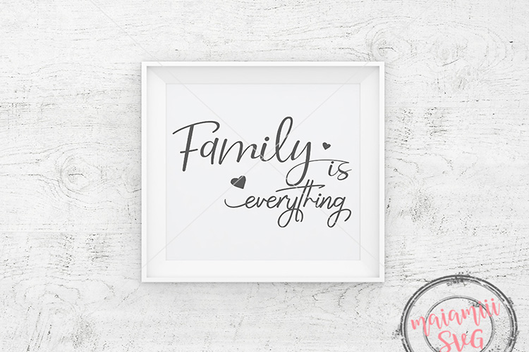Family Is Everything Svg, Family Svg, Farmhouse Sign Svg example image 1