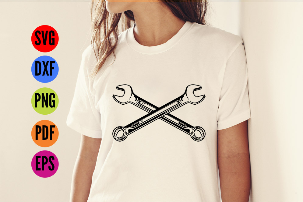 Spanners SVG Cutting File  example image 2