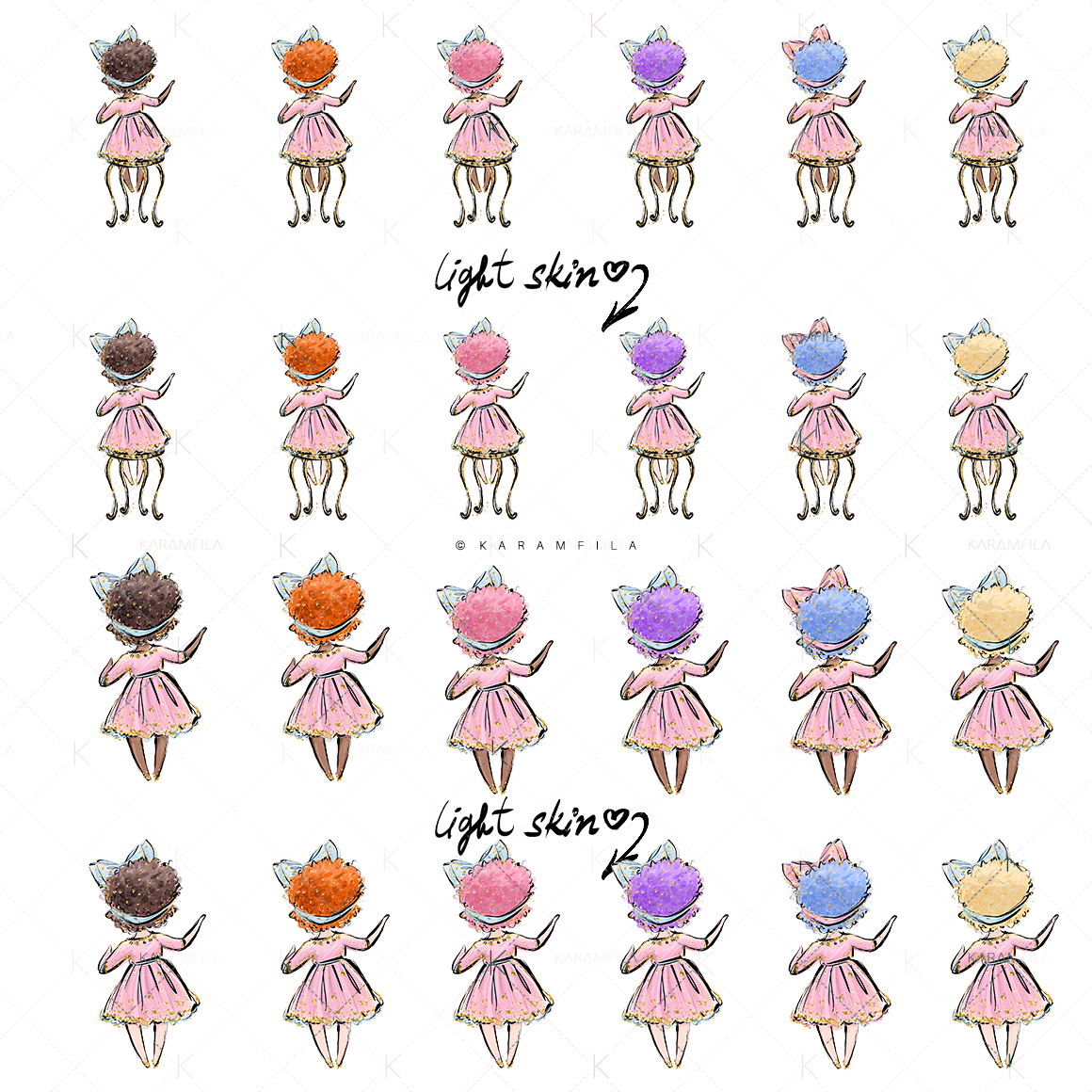 Sweing Girl Clipart example image 4