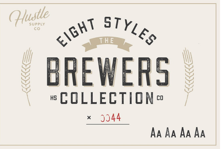 The Brewers Font Collection 8 Fonts example image 4