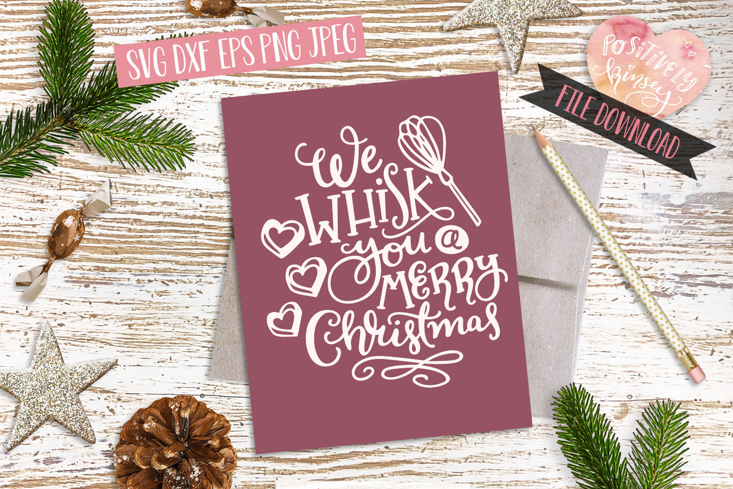 Christmas Baking SVG Bundle! 7 Cute Holiday Quote Designs example image 6