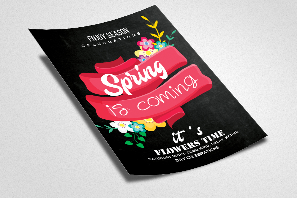 Spring Is Coming Flyer Template example image 2
