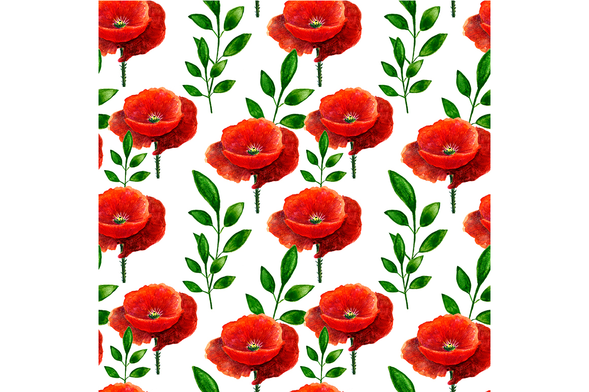 Seamless pattern with maquis. example image 1