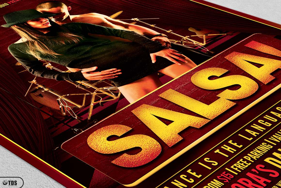 Salsa Caliente Flyer Template example image 5