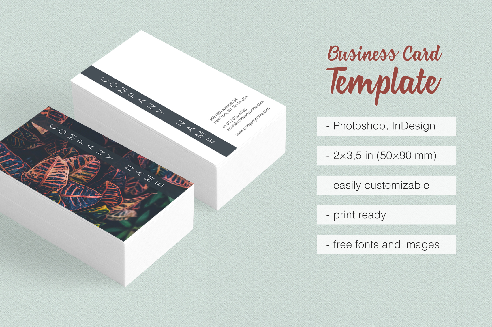 Asian Dream Business Card Template 2 example image 1