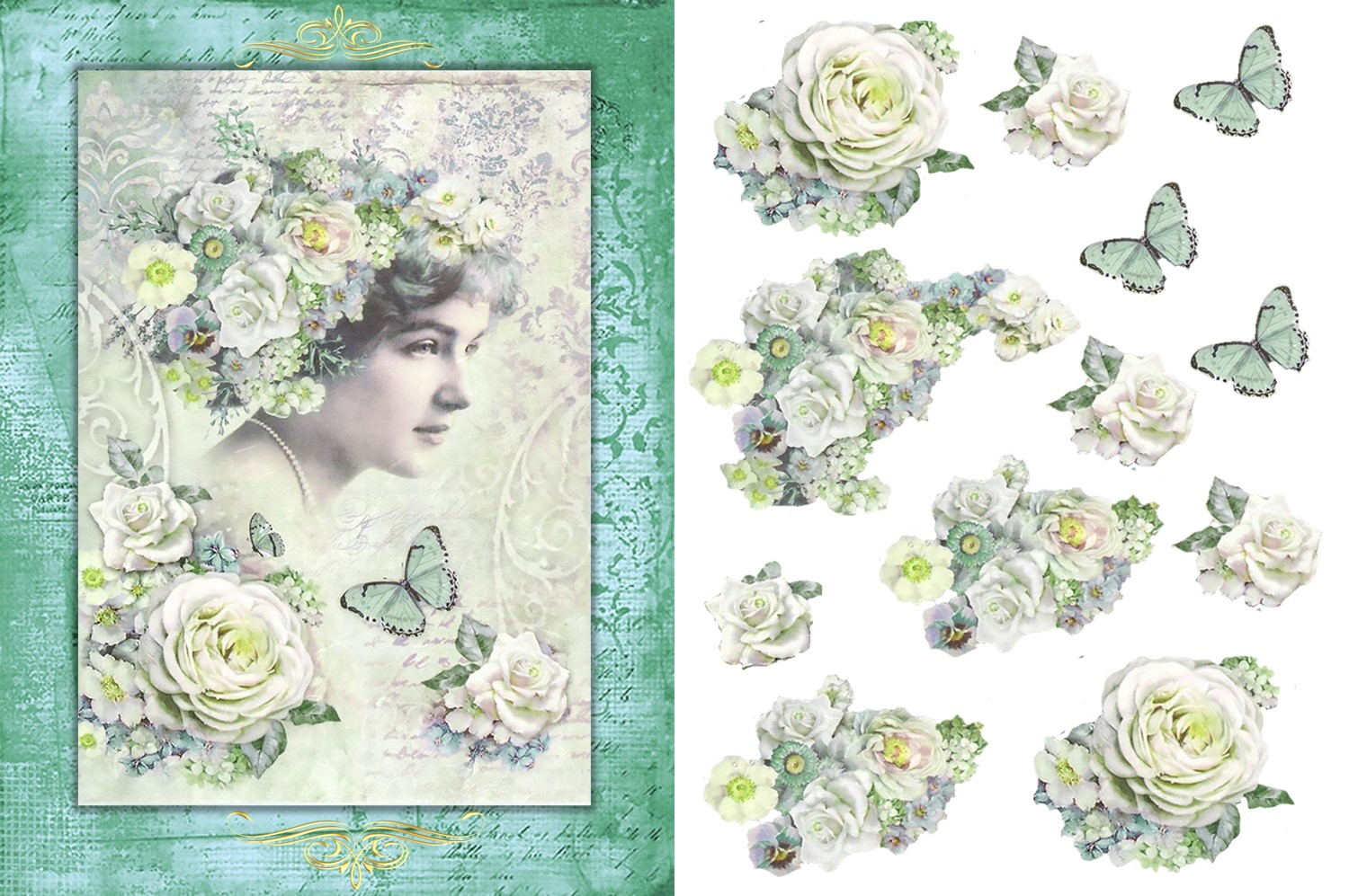 Vintage Victorian Journaling Papers with FREE Ephemera CU example image 5