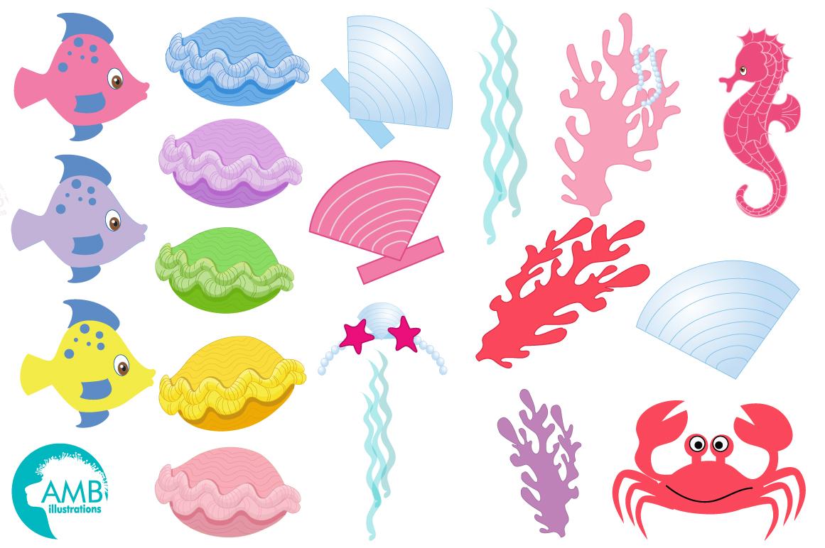 Mermaid Princess clipart, graphics, illustrations AMB-818 example image 4