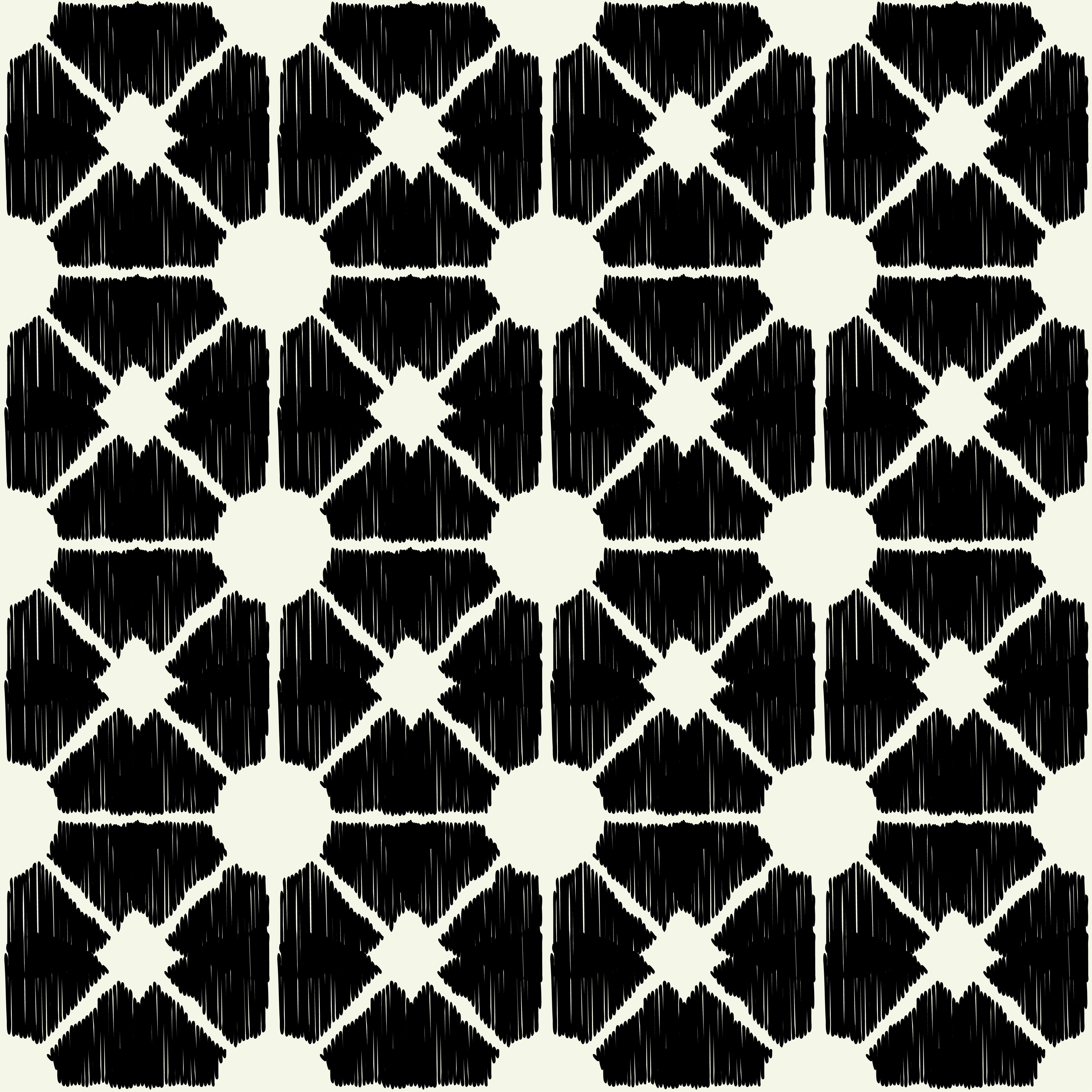 Set of 6 Polka dot seamless pattern. Scribble texture.  example image 2