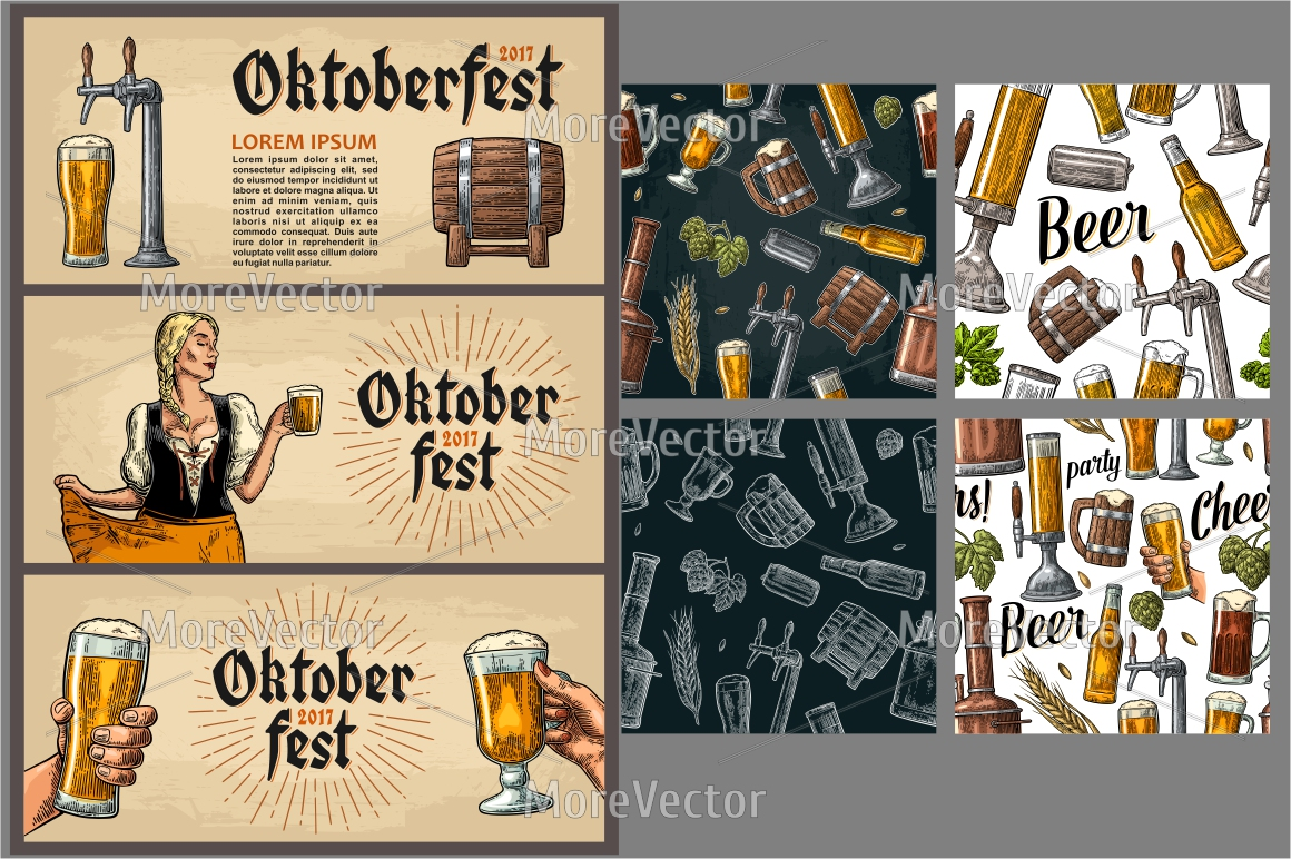 Horizontal and vertical Poster to oktoberfest festival.  example image 2