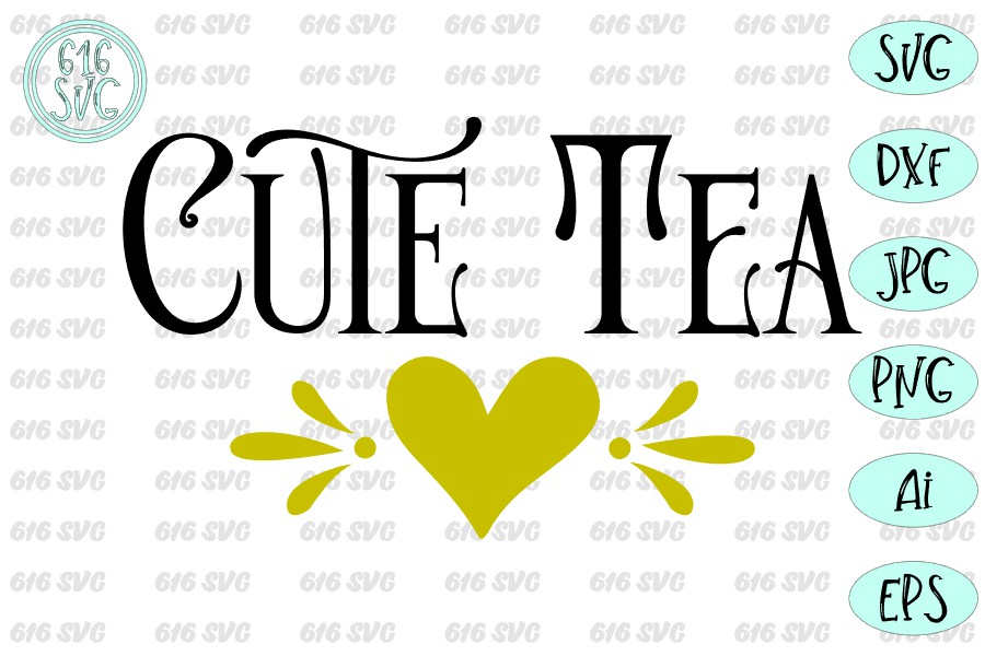 Cute tea SVG, DXF, Ai, PNG example image 3